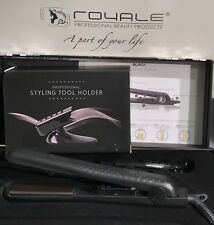 Authentic Royale Black Ceramic Flat Iron/Hair Straightener & Holder (Stand)