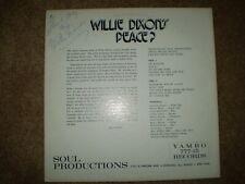 Rare Blues LP: WILLIE DIXON - Peace?- Autographed SIGNED ALBUM  LP  MINT!