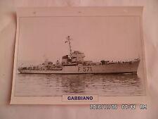 CARTE FICHE NAVIRES DE GUERRE GABBIANO 1942 CORVETTE
