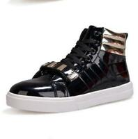 Mens Casual high top lace up Skateboard Fashion Sneakers shoes chic ankle boots@