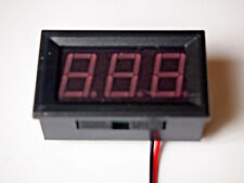 Red Digital LED Voltmeter 12v & 24v Battery Charge Indicator Tester Panel Gauge