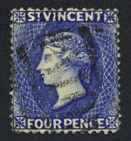 MOMEN: ST VINCENT SG #41a DULL ULTRA WMK REVERSED 1882-3 USED £350 LOT #60954