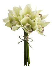 "12 Artificial 10"" Cymbidium Orchid Bouquet Silk Flower Plants Wedding Decor  538"