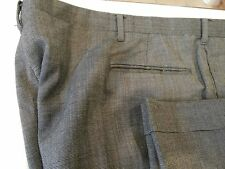 MENS PANTS KUPPENHEIMER BLK CHECK 42W X 31L PLEATED CUFFED FREE SHIPPING R1