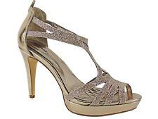Alfani Women's Tacy Evening Platform Sandals Nude Gold Size 9.5 M