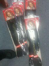 6 Packs of Kanekalon Braid Hair Color #1 Jet Black