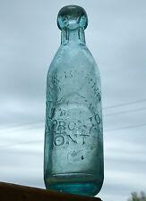 Antique Toronto, Ontario blob top tall soda bottle 'BEAVER - BURNS' FREE SHIP!
