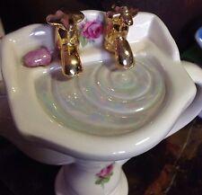 HTF Victorian Wash Basin Tea Pot  Swineside Teapottery Roses England