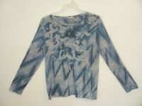 White Stag Women's Top Shirt Size XL Gray Green Floral Long Sleeve