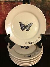 """Janneke Brinkman-Salentijn Butterflies Porcelain Dessert Plate JBS Collection 7"""""""