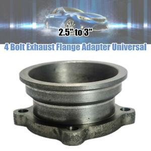 """2.5"""" to 3"""" Stainless Steel  Car V-Band Turbo Downpipe 4 Bolt Exhaust Flange Base"""
