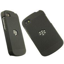 BLACK RUBBERIZED HARD CASE + BELT CLIP HOLSTER STAND FOR BLACKBERRY Q10 PHONE