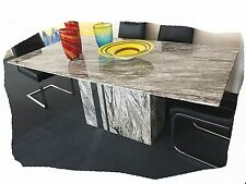 Nicola 1800x1000 Marble Dining Table with Mirror Detail - BRAND Nicola