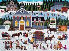 Charles Wysocki Churchyard Christmas Buffalo Games Jigsaw Puzzle