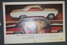 Original Magazine Ad 1960 Chevrolet Malibu Sport Coupe Sport Print Auto Photo