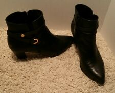 Women's Anne Klein Chelsey Dress Ankle Black Boots Size 11 M