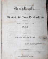 Unterhaltungsblatt Rheinhessischer Beobachter 1864 Ober-Ingelheim Rheinhessen