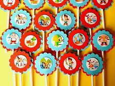 30 JAKE NEVERLAND PIRATES Cupcake Toppers Birthday Party Favors, Baby Shower 30