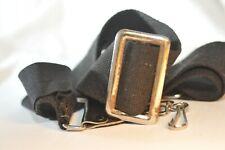 Hippie Canvas Black shoulder camera strap vintage metal buckle clips