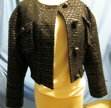 Black Polyester/Rayon Ladies Jacket by J. Crew in Size 6