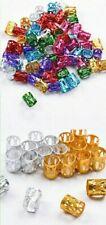 10PCS Dreadlocks Cuffs Clips Hair Ring Wrap Beads Tube Box Braids Loc Jewelry