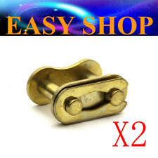2X Gold 428 Chain Master Joiner Links 125/140/150cc PIT Quad Dirt Bike ATV Buggy