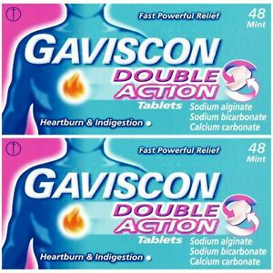 Gaviscon Double Action Heartburn & Indigestion Relief 48 Tablets 2,3 or 4 Packs