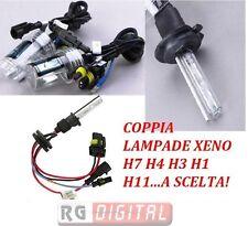 COPPIA BULBI LAMPADE XENON XENO H1 H4 H7 RICAMBIO 5000k 6000K 8000k