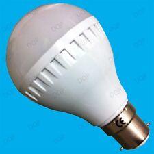 6W LED GLS Globe Ultra Bajo Consumo 6500K Luz Natural Blanca Bombilla BC B22