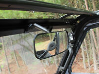 NEW Polaris Ranger  UTV REAR VIEW MIRROR Heavy Duty Wide Angle Adjustable