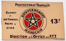 MAROC MOROCCO CARNET DE 20 TIMBRES Yt 140 PROTECTORAT FRANCAIS