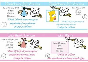 10 Birth Announcement Boy / Girl  Cards -  with envelopes