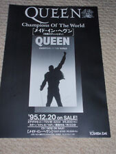 QUEEN vary rare original 1995 Champions of the World Japan FLYER Freddie Mercury