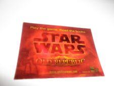Star Wars Old Republic Promo Lenticular Trading Card