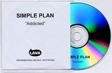 SIMPLE PLAN Addicted 2003 UK 1-track promo test CD
