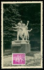 BELGIEN MK 1955 TUBERKOLOSE SKULPTUR SCULPTURE CANNEEL MAXIMUM CARD MC CM an54