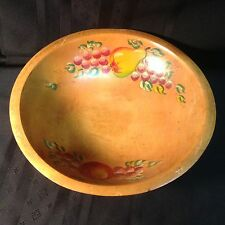 Vintage ,hand painted, wooden fruit/salad bowl  by Woodcroftery    (N3)