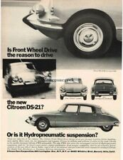 1966 Citroen DS-21 Pallas Vtg Print Ad