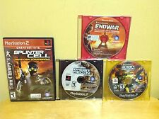 Playstation PS2 - Tom Clancy's Ghost Recon 2 , Pandora, End War & Warfighter Lot