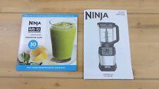 Ninja Inspiration Guide Recipe Book and BL490T Manual
