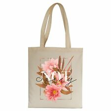 Not sorry illustration design tote bag canvas shopping