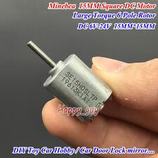 Dc 12v 24v 18v 9700rpm Large Torque 6 Pole Rotor Micro 15mm15mm Square Dc Motor