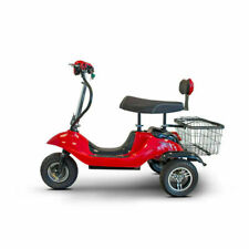 eWheels EW-19 15 MPH Sporty Electric 3 Wheeled Mobility Scooter - Red