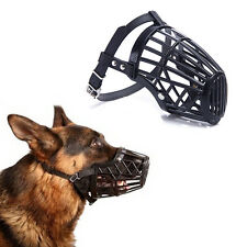 adjustable basket mouth muzzle cover for dog training bark bite chew controlWP4