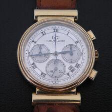 IWC SCHAFFHAUSEN 18K Yellow Gold 3739 Authentic SWISS Chronograph Wrist Watch
