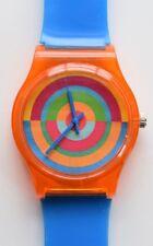 Orange Retro target - 80s designer style watch