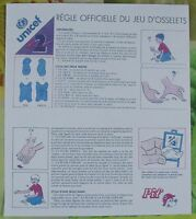 1 Ancienne Règle Officiel Jeu d'Osselets Pif. 1978 à 1990
