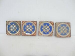 "Victorian Ceramic Floor Tile Terracotta Antique 1800s Vintage Old Tiles Pugin 4"""