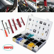 800Pcs Car Retainer Clips & Fastener Remover w/Rivets Set Door Trim Panel Clip