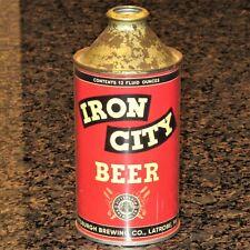 Iron City Beer Replica / Novelty cone top beer can, paper label